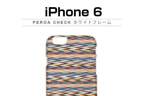 【iPhone6s/6】 天然木 Man&Wood Peroa check (マンアンドウッド ぺロアチェック)アイフォン