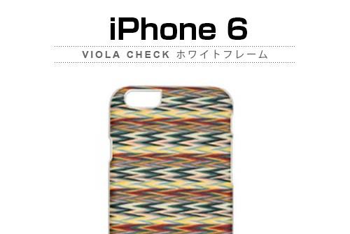 【iPhone6s/6】 天然木 Man&Wood Viola check (マンアンドウッド ヴィオラチェック)アイフォン