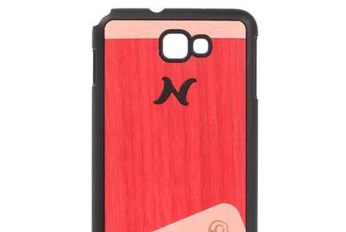 【Galaxy Note】 天然木 Man&Wood wood-fit Season 1 Harmony Poroporo Red I1243GNT