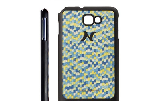 【Galaxy Note】 天然木 Man&Wood wood-fit Gogh Blue Touch I1237GNT