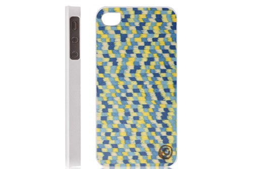 【iPhone 4s/4】 天然木 Man&Wood Real wood case Gogh bluetouch white ゴッホブルータッチホワイト I1042i4SW