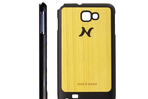 【Galaxy Note】 天然木 Man&Wood wood-fit Poroporo Yellow I1236GNT