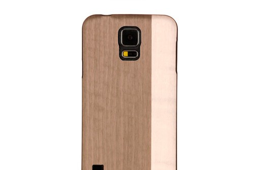 【GALAXY S5】 天然木 Real wood case Harmony Einstein spripe (リアルウッドケース ハーモニー アインシュタインストライプ) ブラックフレーム