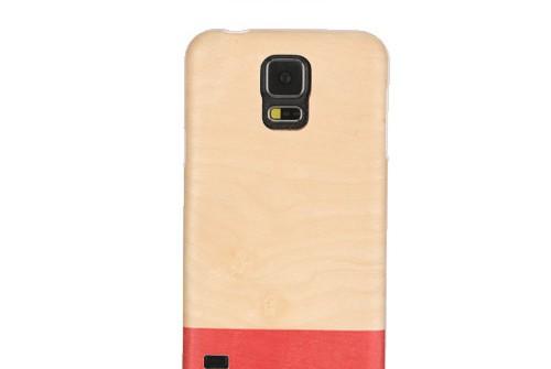 【GALAXY S5】 天然木 Real wood case Harmony Miss match (リアルウッドケース ハーモニー ミスマッチ) ブラックフレーム