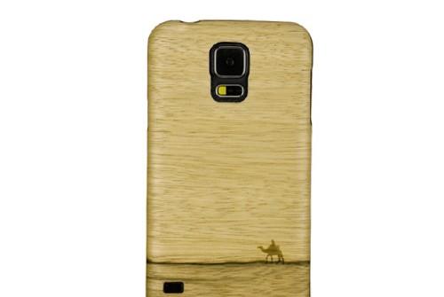 【GALAXY S5】 天然木 Real wood case Genuine Terra (リアルウッドケース ジェニュイン テラ) ブラックフレーム