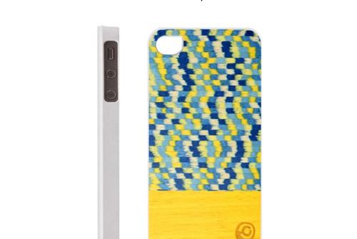 【iPhone SE/5/5s】 Man&Wood Real wood case Harmony Yellow Submarine(マンアンドウッド イエローサブマリン)アイフォン 天然木