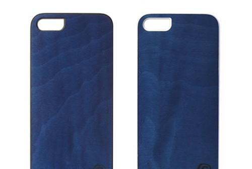 【iPhone SE/5/5s】 Man & Wood Real wood case Vivid Midnight Blue(マンアンドウッド ミッドナイトブルー)アイフォン 天然木