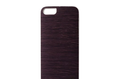 【iPhone SE/5/5s】 Man & Wood Real wood case Vivid Puple Rain(マンアンドウッド ビビッドピープルレイン) アイフォン 天然木