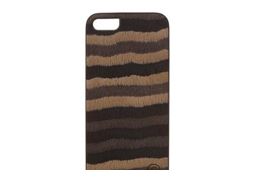 【iPhone SE/5/5s】 Man&Wood Real wood case Caleido Wild Horse(マンアンドウッド カレイドワイルドホース)アイフォン 天然木