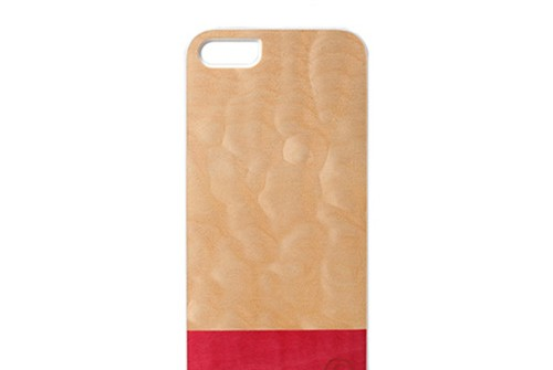 【iPhone SE/5/5s】 Man&Wood Real wood case Harmony Miss Match White(マンアンドウッド ミスマッチ)アイフォン 天然木