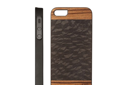 【iPhone SE/5/5s】 Man&Wood Real wood case Harmony Cacao(マンアンドウッド ハーモニーカカオ)アイフォン 天然木