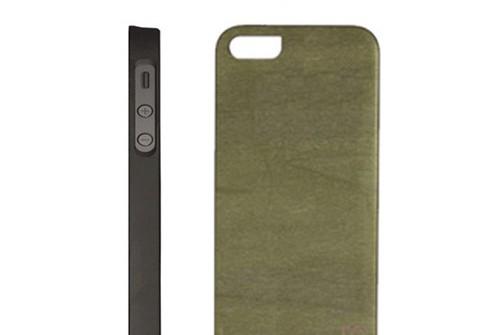 【iPhone SE/5/5s】 Man&Wood Real wood case Vivid Green Tea Bar (マンアンドウッド ビビッド グリーンティーバー)アイフォン 天然木