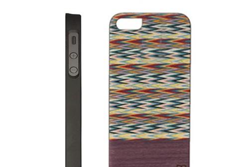【iPhone SE/5/5s】 Man&Wood Real wood case Harmony Viola check Bar(マンアンドウッド ハーモニービオラチェックバー)アイフォン 天然木