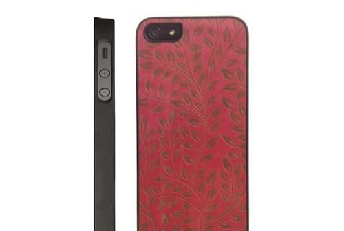 【iPhone SE/5/5s】 Man&Wood Real wood case Engraving Camellia (マンアンドウッド エングレイビングカメリア) アイフォン 天然木