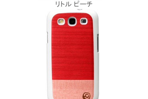 【GALAXY S3 SC-06D/GALAXY S3 α SC-03E】 docomo 天然木 Real wood case Harmony Little Peach I1698GS3