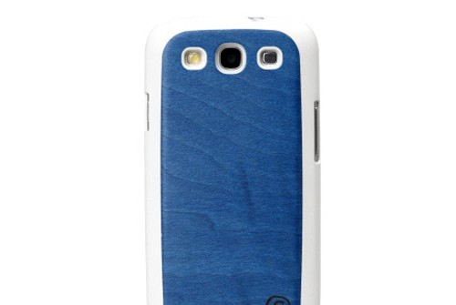 【GALAXY S3 SC-06D/GALAXY S3 α SC-03E】 docomo 天然木 Real wood case Midnight Blue I1320GS3