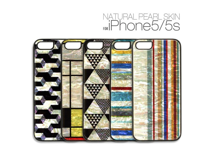 【iPhone SE/5/5s ケース】 ikins Natural Pearl Case(アイキンス ナチュラルパールケース) アイフォン 天然貝