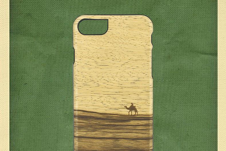 【iPhone7 ケース】 天然木 Man&Wood Terra(マンアンドウッド テラ)