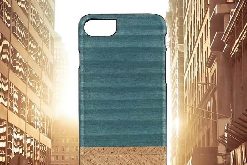 【iPhone7 ケース】天然木 Man&Wood Denim(マンアンドウッド デニム)