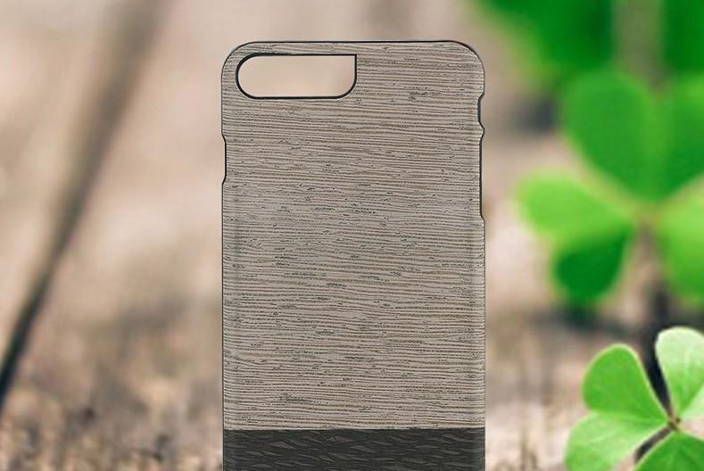 【iPhone7 Plus ケース】天然木ケース Man & Wood Lattis (マンアンドウッド ラティス)