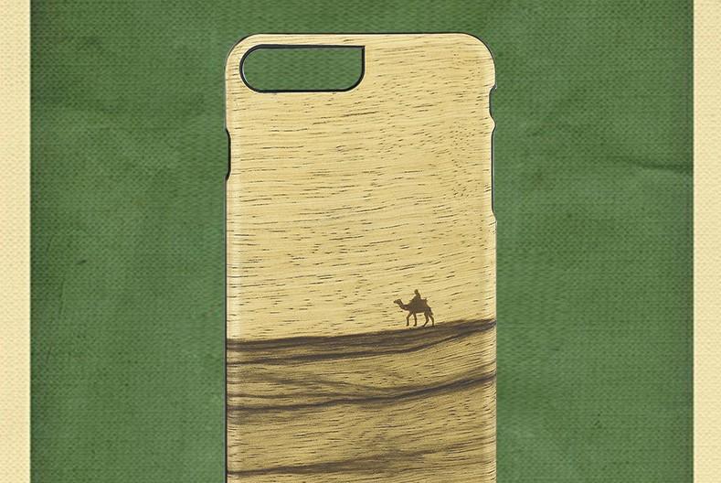 【iPhone7 Plus ケース】天然木ケース Man & Wood Terra (マンアンドウッド テラ)