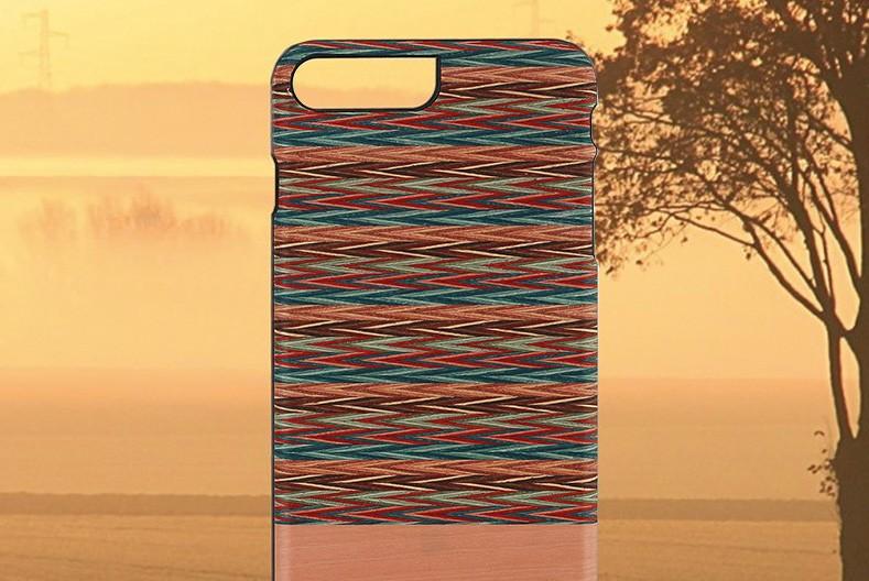 【iPhone7 Plus ケース】天然木ケース Man & Wood Browny check (マンアンドウッド ブラウニーチェック)