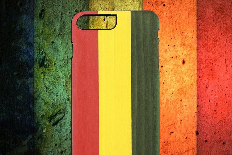 【iPhone7 Plus ケース】天然木ケース Man & Wood Reggae (マンアンドウッド レゲエ)