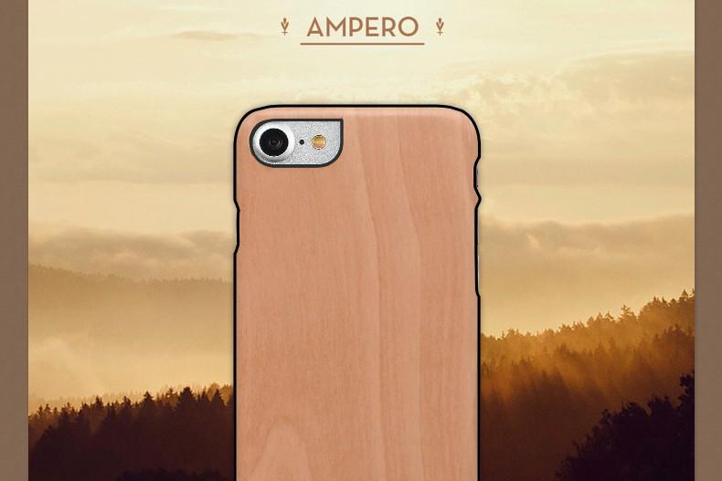 【iPhone7 ケース】天然木 Man&Wood Ampero(マンアンドウッド アンペロ)アイフォン カバー 木製