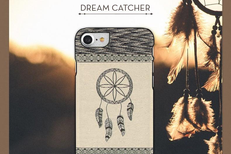 【iPhone7 ケース】天然木 Man&Wood Premium Dream catcher(マンアンドウッド プレミアム ドリームキャッチャー)アイフォン カバー 木製