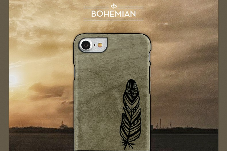 【iPhone7 ケース】天然木 Man&Wood Premium Bohemian(マンアンドウッド プレミアム ボヘミアン)アイフォン カバー 木製