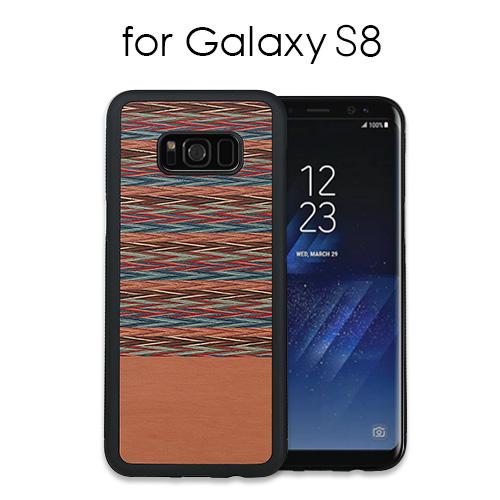 Galaxy S8 天然木ケース Browny Check