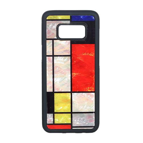 Galaxy S8 天然貝ケース ikins Mondrian(アイキンス テンネンガイ モンドリアン)ギャラクシー エス エイト カバー SC-02J SCV36