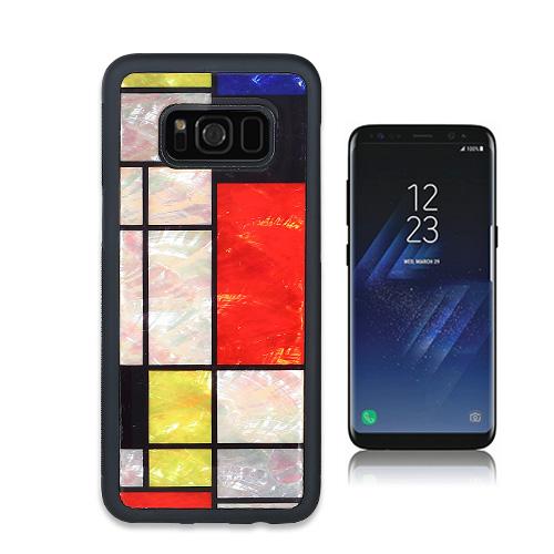 Galaxy S9 ケース Galaxy S8 天然貝ケース ikins Mondrian(アイキンス テンネンガイ モンドリアン)