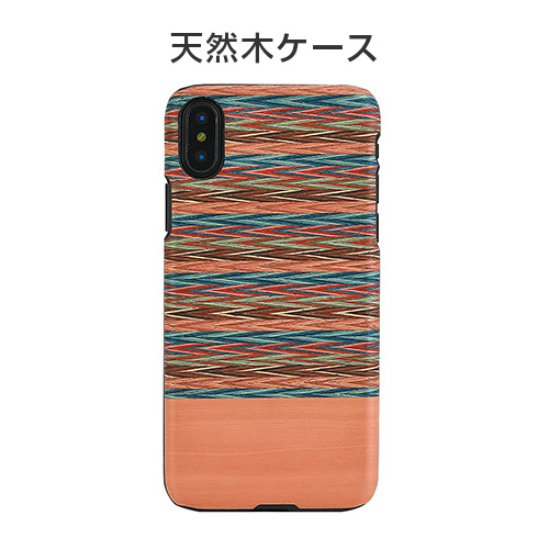 iPhone X ケース 天然木 Man&Wood Browny Check(マンアンドウッド ブラウニーチェック)