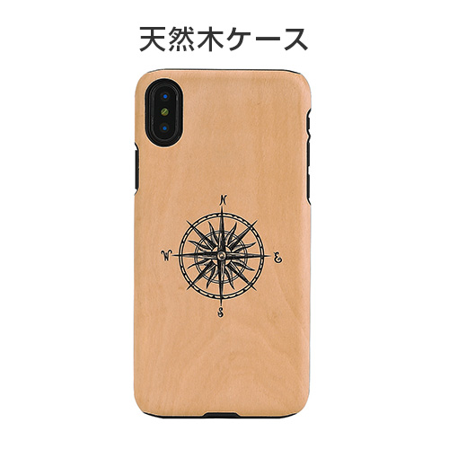 iPhone X ケース 天然木 Man&Wood Compass(マンアンドウッド コンパス)