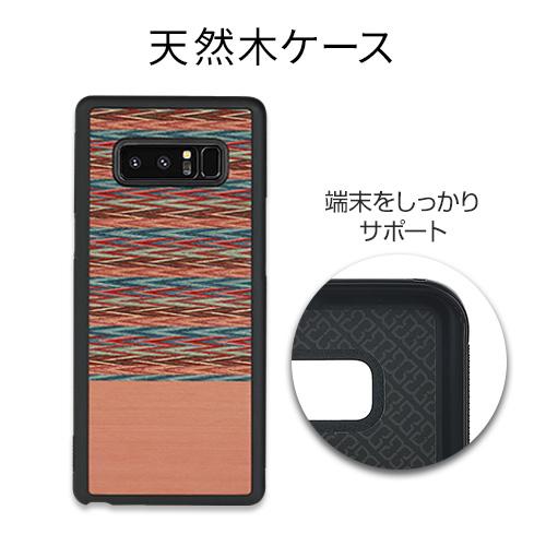 Galaxy Note8 ケース 天然木 Man&Wood Browny Check(マンアンドウッド ブラウニーチェック)