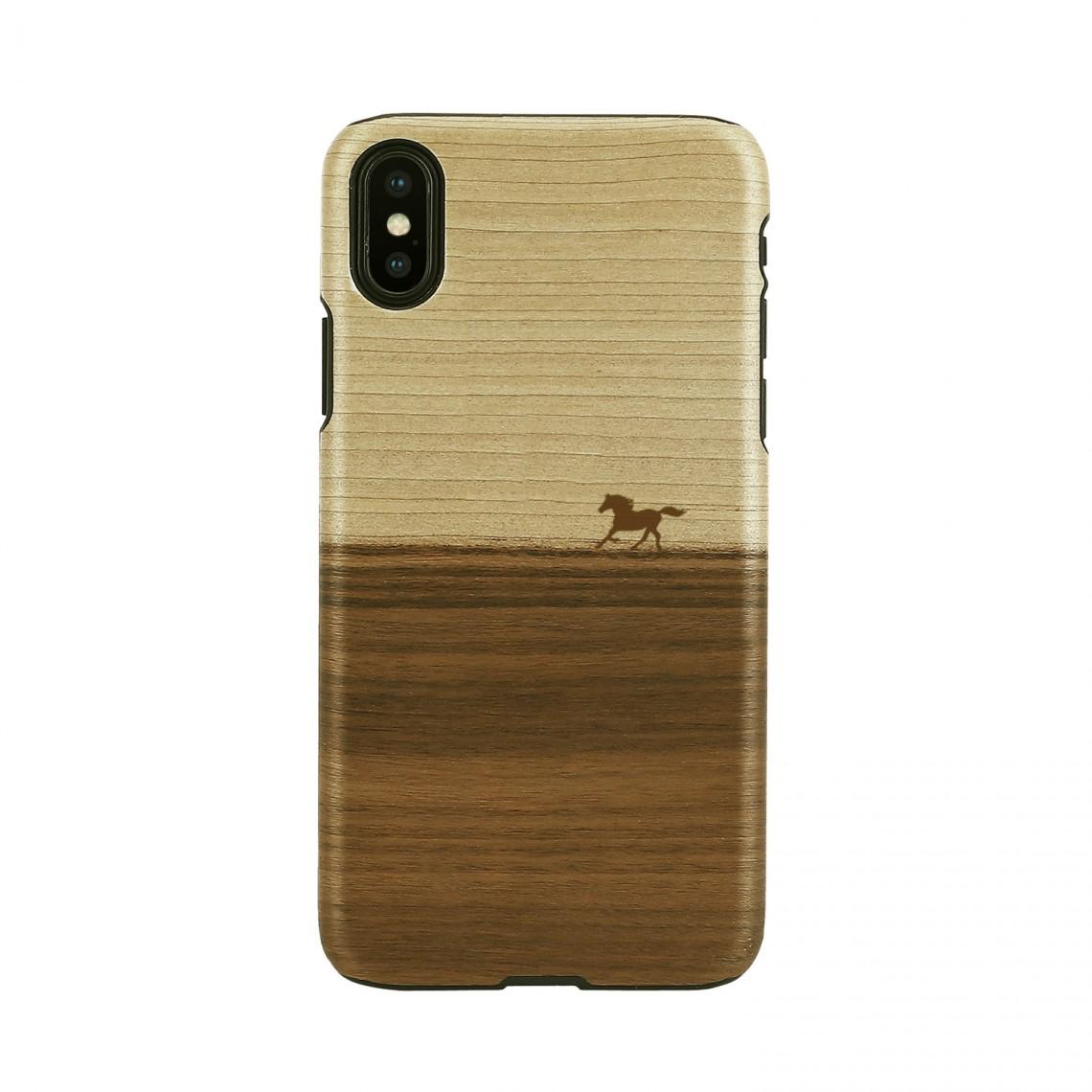 iPhone XR ケース 天然木 Man&Wood Mustang(マンアンドウッド マスタング)