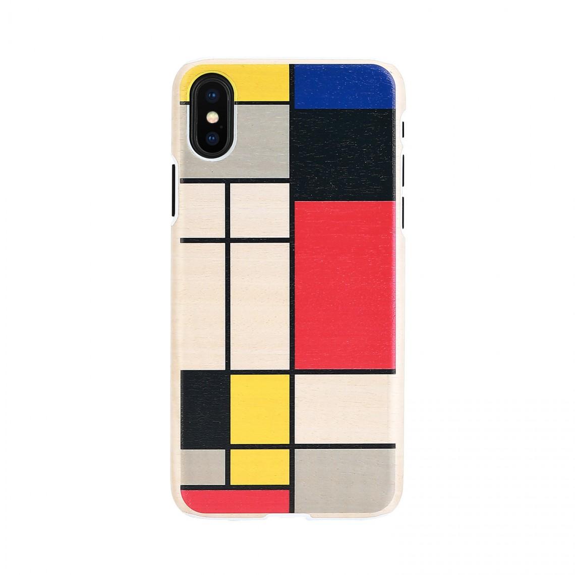 iPhone XR ケース 天然木 Man&Wood Mondrian Wood(マンアンドウッド モンドリアンウッド)