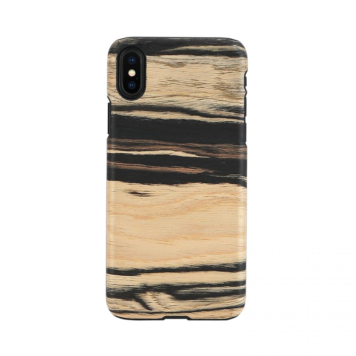 iPhone XS Max ケース 天然木 Man&Wood White Ebony(マンアンドウッド ホワイトエボニー)
