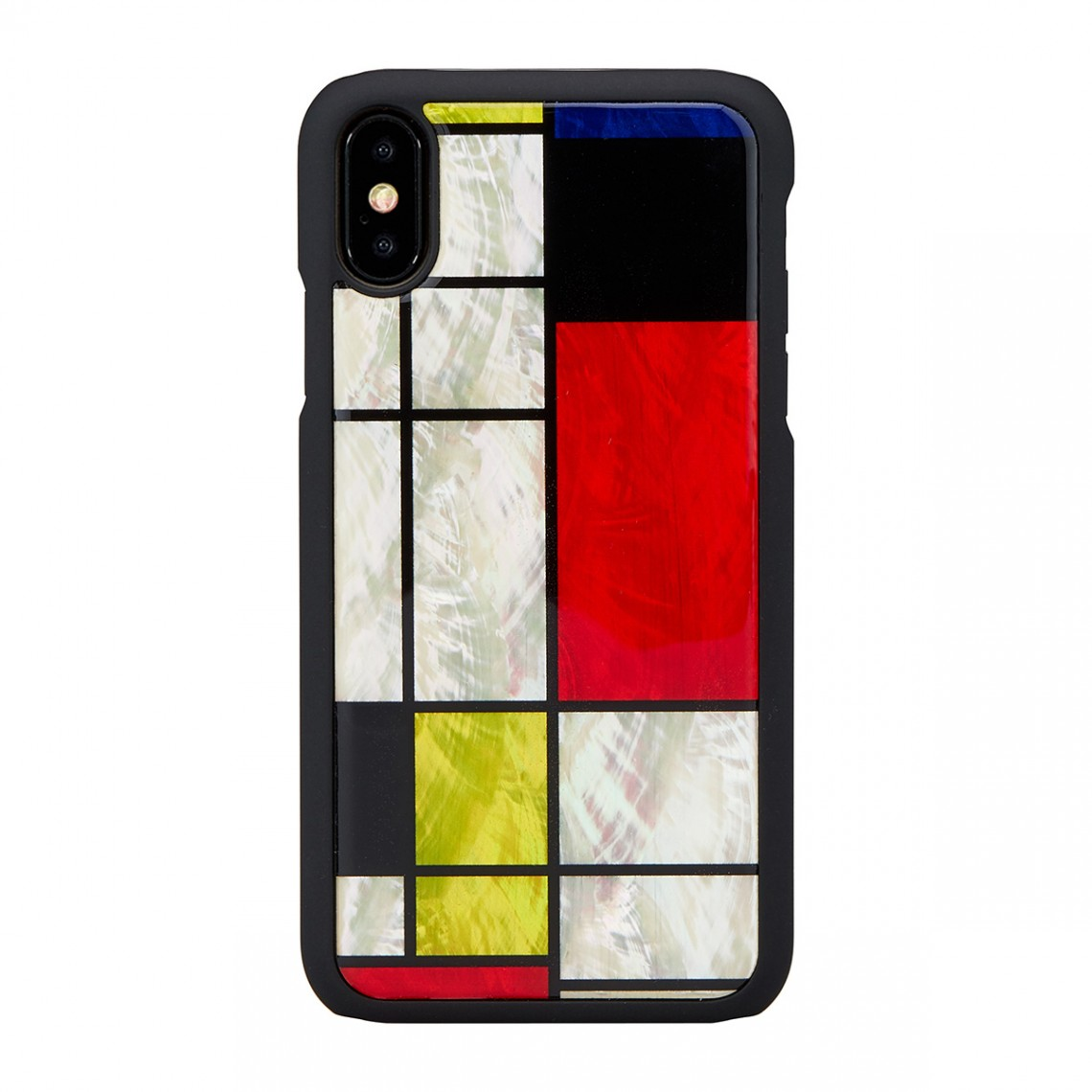 iPhone XS Max 天然貝 ケース ikins Mondrian