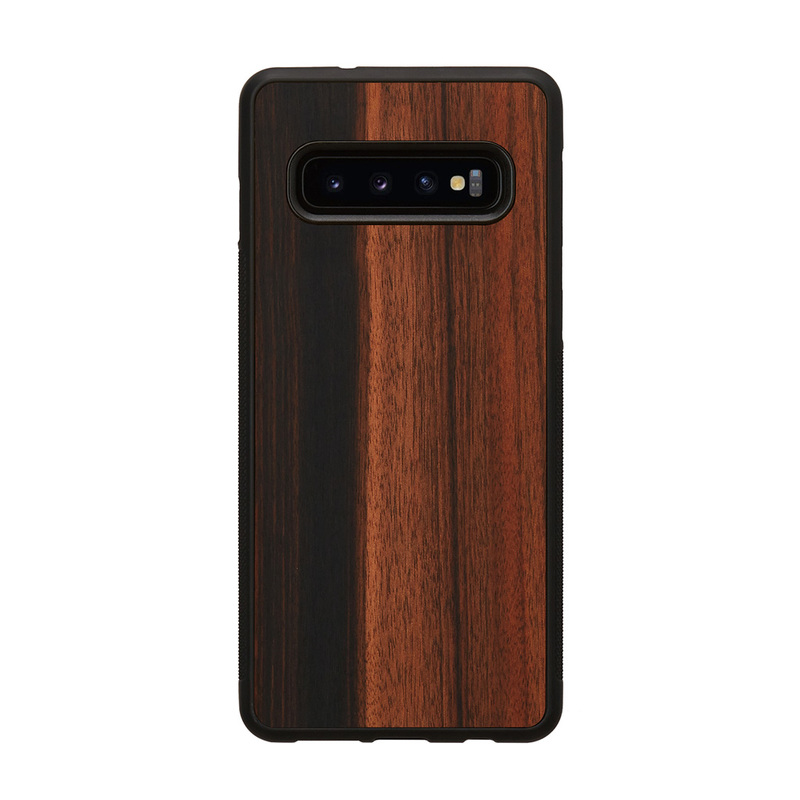 Galaxy S10 S10+ 天然木ケース Man&Wood Ebony(マンアンドウッド エボニー) カバー木製