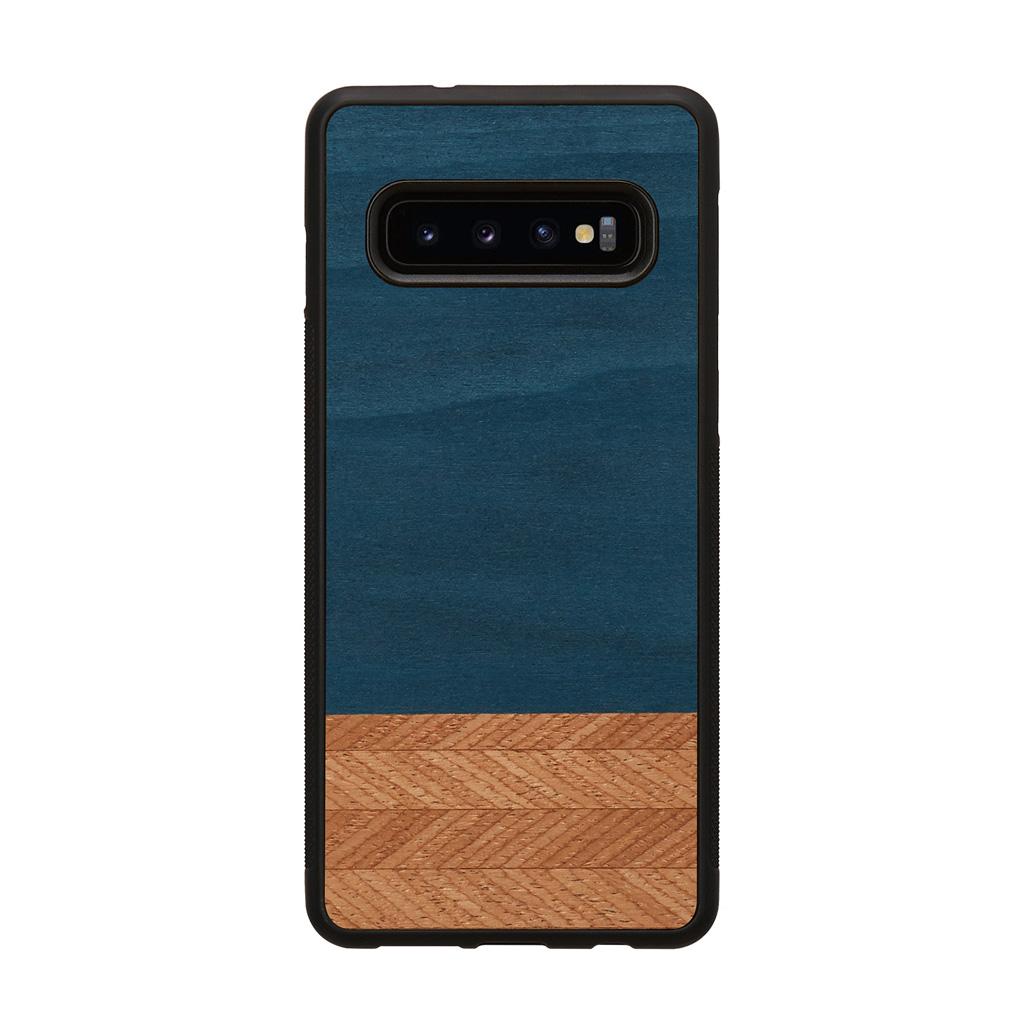 Galaxy S10 S10+ S9 S9+ 天然木ケース Man&Wood Denim(マンアンドウッド デニム) カバー木製