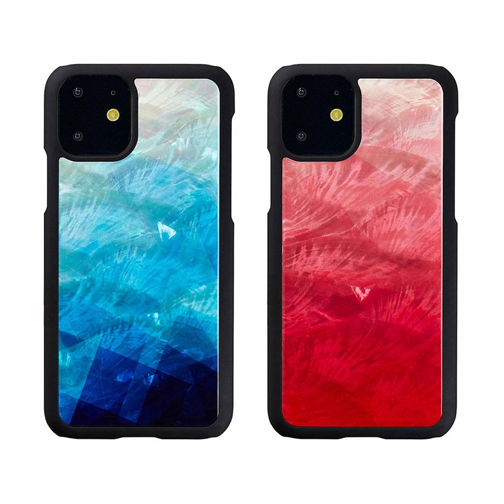 ikins iPhone 11 天然貝ケース Lake