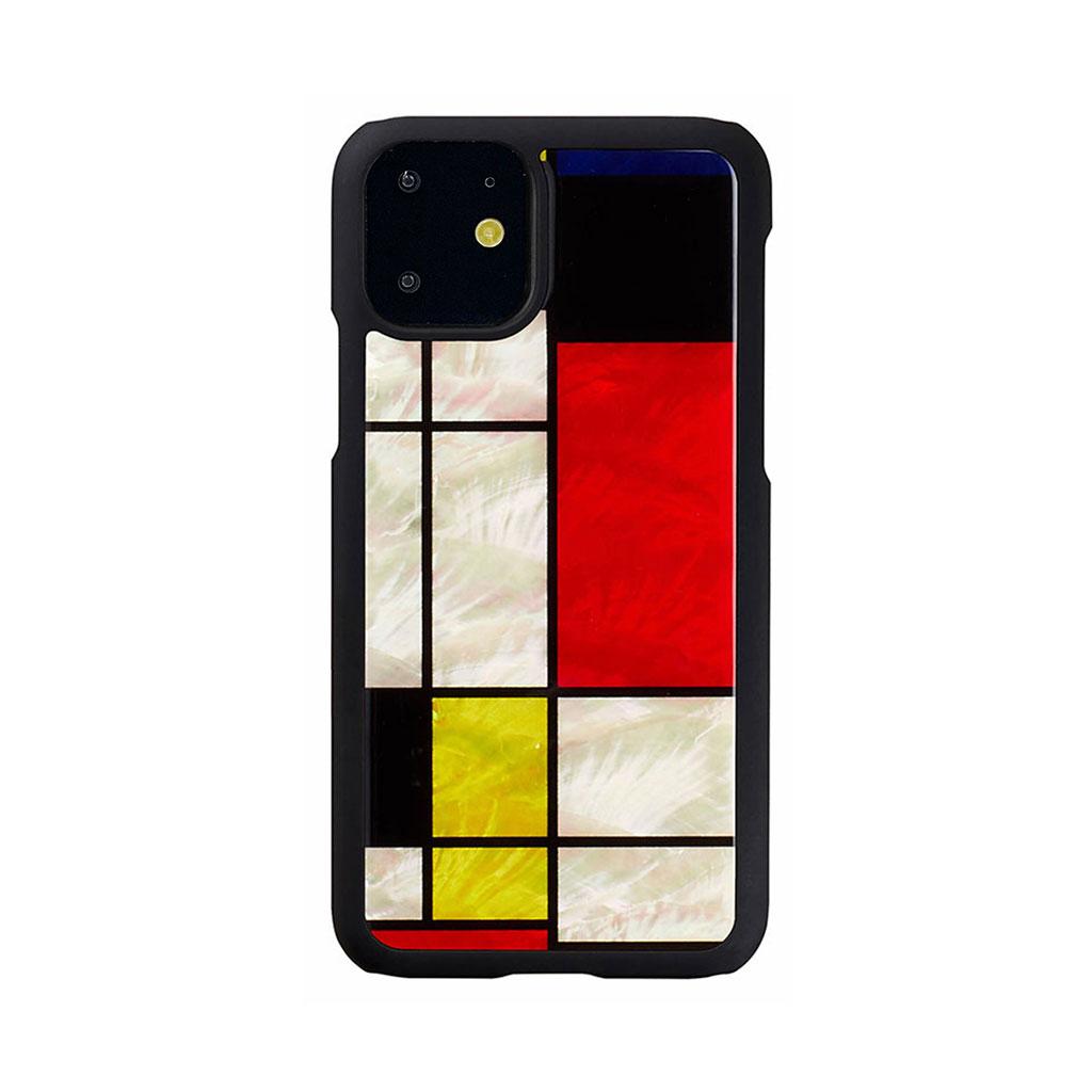 ikins iPhone 11 天然貝ケース Mondrian