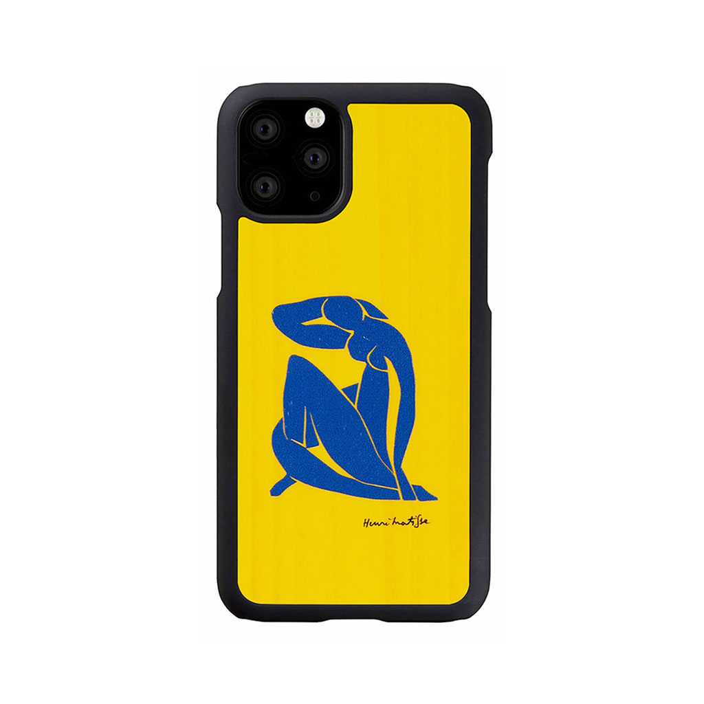 Man&Wood iPhone 11 Pro 天然木ケース ブルーヌード