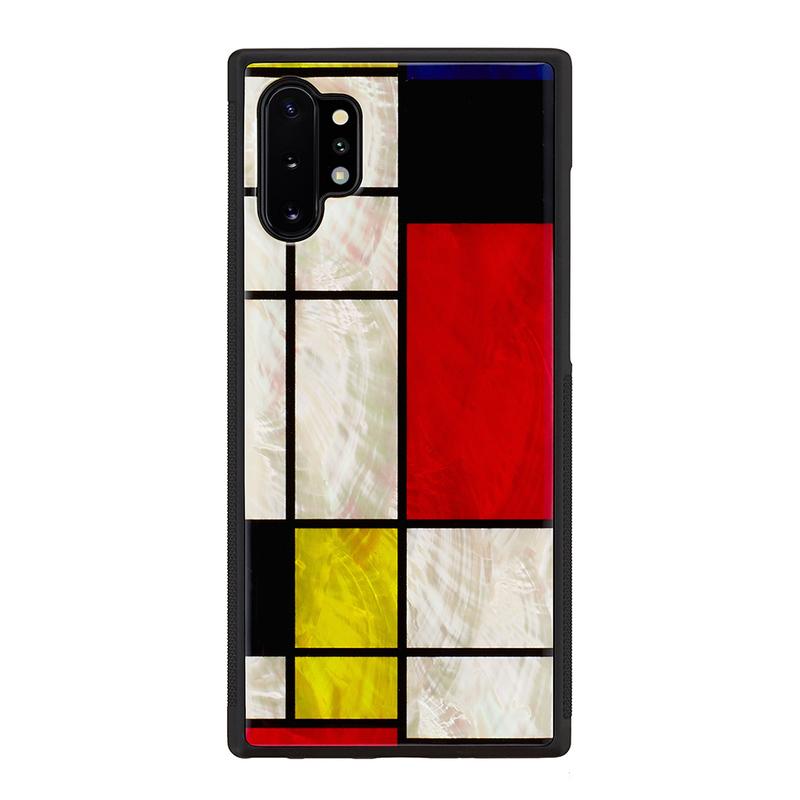 ikins Galaxy Note 10+ 天然貝ケース Mondrian
