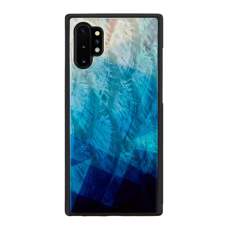 ikins Galaxy Note 10+ 天然貝ケース Blue Lake