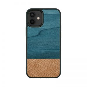 【iPhone 12 mini / 11 Pro ケース】Man&Wood Denim【天然木ケース】