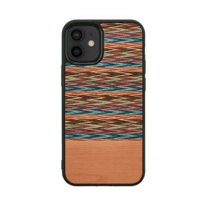 【iPhone 12 mini / 11 Pro ケース】Man&Wood Browny Check【天然木ケース】
