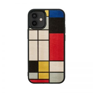 【iPhone 12 mini / 11 Pro ケース】Man&Wood Mondrian Wood 【天然木ケース】